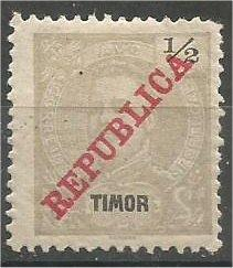 TIMOR, 1911, MH 1/2a, King Carlos. Scott 106