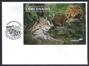 COSTA RICA NATIONAL PARK CORCOVADO, ENDANGERED CATS ,Sc 662 FDC 2014