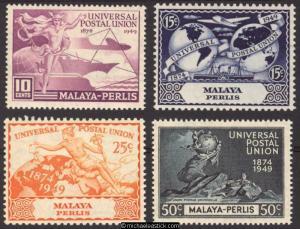 1949 Malaya Perlis U.P.U., set of 4, SG 3-6, MLH