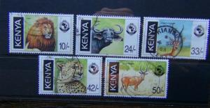 Kenya 1998 18th Anniversary of Pan African Postal Union Wildlife set Used