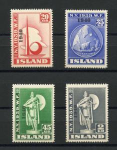 ICELAND NY WORLD'S FAIR  SCOTT#232/34  MINT NEVER HINGED FULL ORIGINAL GUM