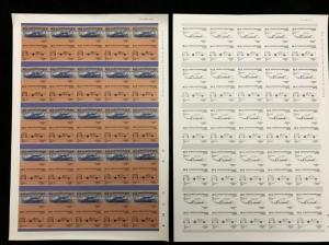 St Vincent Racing Cars Format Imperf Colour Proof Error Sheets MNH x 20 (KR132