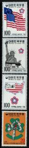 Korea SC# 1034-1036 and 1039, Mint Never Hinged -  Lot 010117