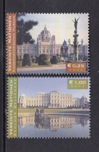 United Nations Vienna  #327-328  MNH  2003   Austrian tourist attractions