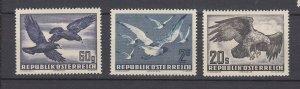 J29510, 1950-3 austria mh #cc54, c56, c60 birds