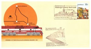 Australia, Postal Stationary, Worldwide First Day Cover, Trains
