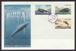Norfolk Island 290-292 Whales U/A FDC