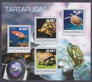 2014 Mozambique 7580-7583KL Reptiles / Turtles 10,00 €