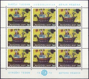 Yugoslavia. 1973. KLB 1519. children's drawing. MNH.