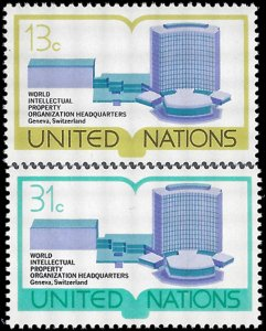 UN New York 1977 #281-282 Mint NH