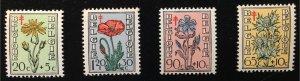 B468-B471 MNHOG - Belgium Flowers (Complete set of 4)