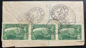 1925 Montego Bay Jamaica Registered Cover To New York Usa