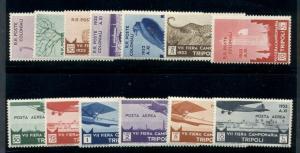 LIBYA #B48-54, C8-13, Complete set incl. Airs, og, VLH/NH, Scott $550.00