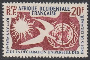French West Africa 85 MLH CV $2.40