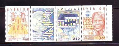 Sweden Sc1772-5 Nobel Prize Physiology stamps mint NH