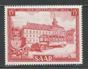 SAAR 1954, Stamp Day, Transportation, Scott # 249, VF MLH*OG, $9+