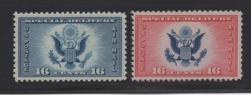 United States US 1934-6 Air Post Special Delivery Stamps 16c Scott CE1 - CE2 MNH