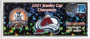US 2001 Stanley Cup Champions Colorado Avalanche!