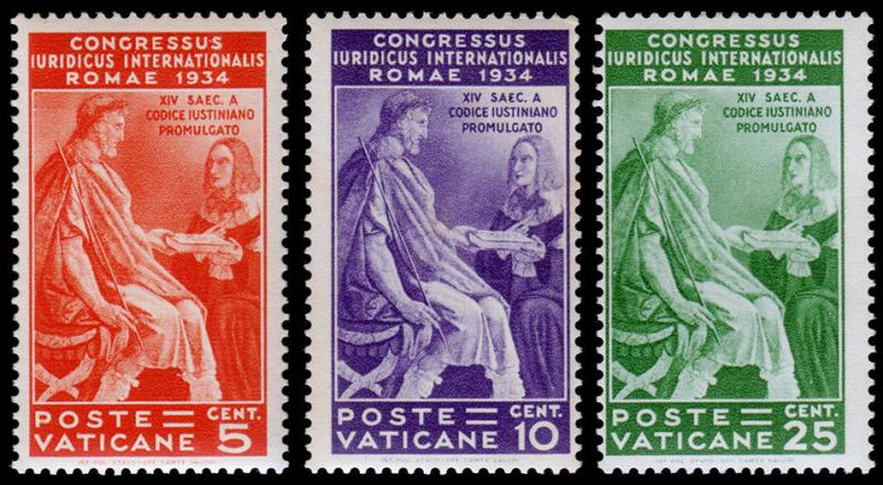 Vatican City Scott 41-43 (1935) Mint LH VF, CV $34.00 B