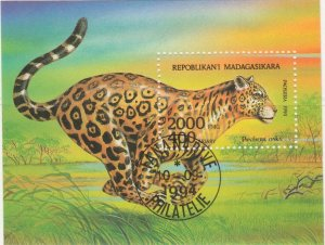 Malagasy Republic 1994 Wild Animals Jaguar Sheet Mi. Block 261 Used 11890
