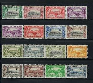 SIERRA LEONE SCOTT #173-185 1938-44 GEORGE VI PICTORIALS-  MINT LIGHT HINGED