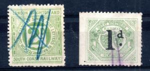 Great Northern & South Coast Railway Letter used pair WS12388