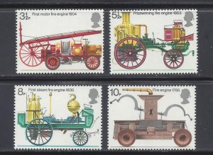 Great Britain MNH 716-9 Antique Fire Engines