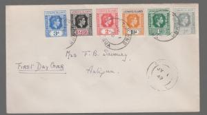 1949 Leeward Islands First Day Cover to Antigua FDC
