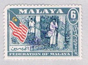 Malaya Federation 80 Used Rubber tapping (BP2248)