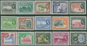 British Guiana 1954 SG331-345 Scenes Fish Bird set MLH