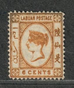 Labuan Sc#6 M/H/VF, Short Perf, No Gum, Cv. $145