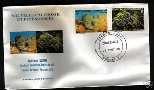 NEW CALEDONIA FDC 1980 MARINE ANIMALS