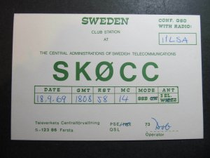 10295 Amateur Radio QSL Card FARSTA SWEDEN