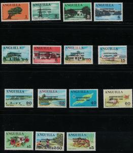 Anguilla SC53-67 MixedTopicals-Overprinted Independence-MNH1969