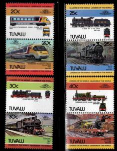 TUVALU Scott 239-242 MNH** Train pairs 1984