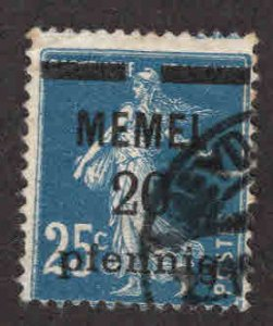 Memel Scott 20 Used 1922 Surcharged French  stamp