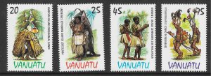 Vanuatu 384-7 Traditional Costumes VF MNH