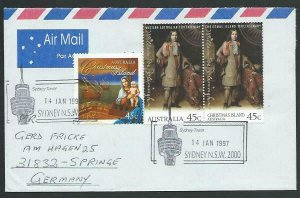 AUSTRALIA 1997 cover to Germany - nice franking - Sydney Pictorial pmk.....14788