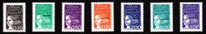 Mayotte MNH Scott #112-#118 Set of 7 MAYOTTE overprint on France definitives