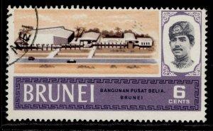 BRUNEI QEII SG175, 6c, FINE USED.