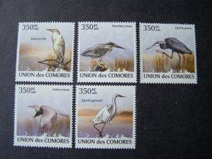 Comores Comoro 2009 MNH Birds wather