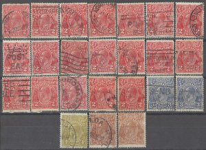COLLECTION LOT # 2455 AUSTRALIA 24 STAMPS 1914+ CLEARANCE CV+$19