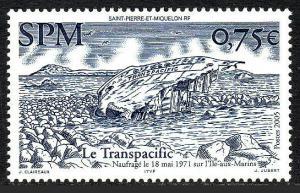 St. Pierre and Miquelon #813 MNH CV$2.50 The Transpacific [125980]
