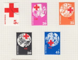 NETHERLANDS, 1972 Red Cross set of 5, used.