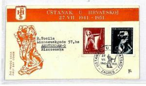 Yugoslavia 1951 Zagreb Illustrated Cover {samwells-covers}CU59