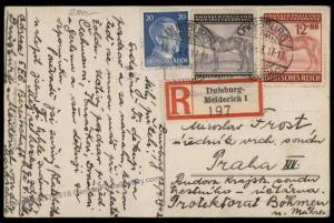 Germany 1943 Grosser Preis von Wien Vienna Horse Race Duisburg Registered  71814