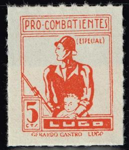 SPAIN STAMP LUGO Civil War War Period Local Stamp 5C ORANGE MNH