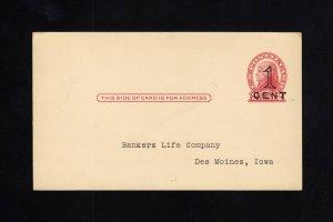 UX35, UPSS #S47-1 Unused Postal Card, UPSS Cat 42.50+