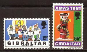 Gibraltar # 414 - 15  Mint N H