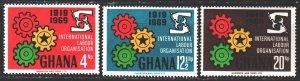 Ghana. 1970. 386-88. 50 years of labor organization. MNH.